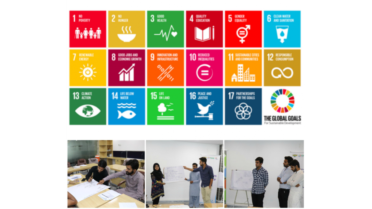 Session on SDGs with CUST Volunteers